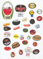Etiquettes De Fruits : Melons Pasteques Lot 13 - Fruit Labels Melons Watermelons Lot # 13 Melones Sandias Melone - Fruits Et Légumes