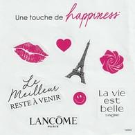 LANCÔME  Planche De 8 Stickers :Une Touche De Happiness - Cartes Parfumées