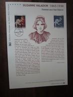 Premier Jour -collection Historique Du Timbre-poste Français - Suzanne Valandon - Femme Aux Bas Blancs  (2015) - Documents De La Poste