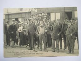 COUPE GORDON BENETT 1905 -   LE COMITE DE L'AUTOMOBILE-CLUB D'AUVERGNE    TRES ANIME       MINI FENTE HAUT - Autres Communes