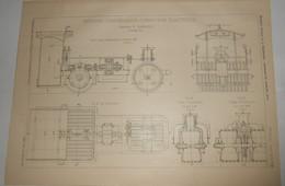Plan D'un Rouleau Compresseur Corroyeur électique. Système P. Sarrazin. 1903. - Public Works