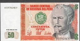 PERU  P131b 50 INTIS  1987    UNC. - Pérou