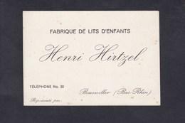 Carte De Visite Commerciale Henri Hirtzel Fabrique De Lits D' Enfants à Bouxwiller - Cartes De Visite