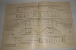 Plan Du Pont Sur Le Neckar, Près De Neckarhausen. Hohenzollern. 1903. - Public Works