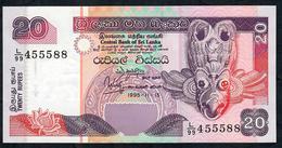 SRI LANKA PP109  20 RUPEES 1995 Prefix L/99    UNC. - Sri Lanka