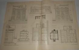 Plan D'un Asile Temporaire à Billancourt Dans La Seine. M. Hodanger, Architecte. 1903. - Public Works