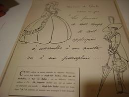 ANCIENNE PUBLICITE MAGASIN HIGH LIFE TAILOR MADAME DE GENLIS   1912 - Vintage Clothes & Linen