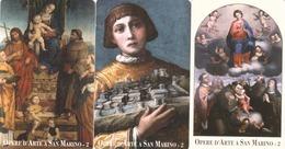 SAN MARINO - Works Of Art In San Marino II, RSM 099,100,101,tirage 6.000, Mint - San Marino