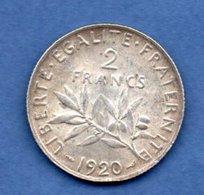 2 Francs Semeuse  1920 / SUP - France