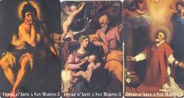 SAN MARINO - Works Of Art In San Marino III, RSM 111,112,113,tirage 4.000, Mint - San Marino