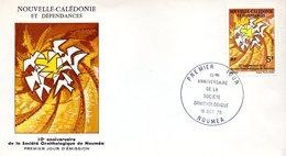Nouvelle-calédonie 395 Fdc Socièté Ornithologique De Nouméa - Oiseaux