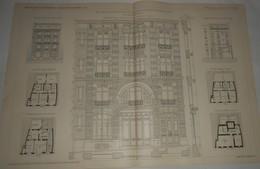 Plan D'une Maison De Commerce Et De Rapport à Meudon En Seine Et Oise. M. E. Harant, Architecte. 1903. - Public Works