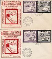 ANTI-COMMUNISM PROPAGANDA, SPAIN EXILE, COVER FDC, 2X, 1959, ROMANIA - FDC