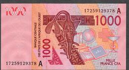 W.A.S. LETTER A IVORY COAST P115Ao ? 1000 FRANCS (20)17  2017 UNC. - Côte D'Ivoire