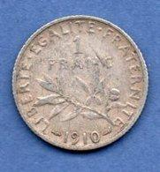 1 Franc Semeuse  1910 / TB+ - H. 1 Franc