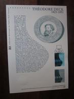 Premier Jour -collection Historique Du Timbre-poste Français - Théodore Deck (2013) - Documents De La Poste