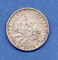 1 Franc Semeuse  1912 / TTB+ - France