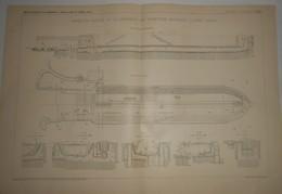 Plan Du Bassin Du Radoub De La Compagnie Des Chantiers Kawasaki à Kobé Au Japon. 1903. - Public Works
