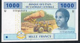 C.A.S. LETTER U CAMEROUN P207Uf 1000 FRANCS 2002 Signature 12   ( 2018  )    UNC. ! - Cameroon