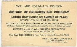 ESTADOS UNIDOS 1933 ENTERO POSTAL CON MAT CENTURY OF PROGRESS WORLD'S FAIR CHICAGO ARTE MAYA MAYAN ART - American Indians