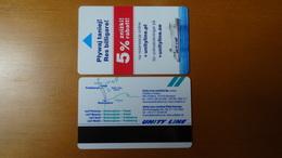2018 Unity Line - Baltic Sea - Ship: Polonia - Room/Cabin And Ship Keycard - Hotel Keycards