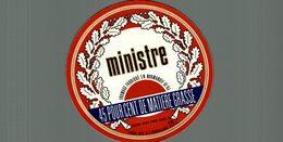 ETIQUETTE CAMEMBERT MINISTRE 61 AJ - Cheese