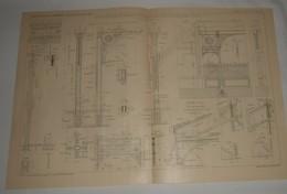 Plan Du Dépôt Du Matériel De Transport, écuries Et Ateliers à Levallois Perret Dans La Seine. M. G. Jacotin. 1903. - Travaux Publics