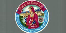 ETIQUETTE CAMEMBERT SPECIALITE D'ONZAIN DIANE DE POITIERS - Cheese