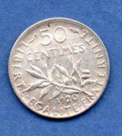 50 Centimes  Semeuse  1920 / SUP - France