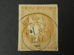 FRANCE Timbre CERES BORDEAUX 10c Oblitéré CLION - 1870 Emission De Bordeaux
