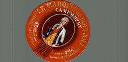 ETIQUETTE CAMEMBERT LE MARQUIS DE BOIS JOLI LA MOTHE SAINT HERAY - Cheese