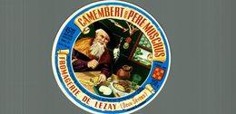 ETIQUETTE CAMEMBERT DU PERE MOSCHUS FROMAGERIE DE LEZAY - Cheese