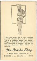 ESTADOS UNIDOS USA CC 1952 ENGLEWOOD ENTERO POSTAL PUBLICIDAD TEXTIL TRAJE VESTIDO DRESS SUIT COATS - Textiles