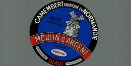 ETIQUETTE CAMEMBERT MOULIN D'ARGENT PREVAL - Cheese