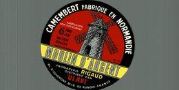 ETIQUETTE CAMEMBERT MOULIN D'ARGENT ULAVI - Cheese