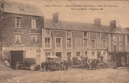 CPA 14 PONT D' OUILLY HOTEL DU COMMERCE PLACE DES HALLES T 16 Vendue En L' état - Pont D'Ouilly