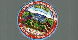 ETIQUETTE CAMEMBERT DOMAINE DE CORBON VALLEE D'AUGE - Cheese