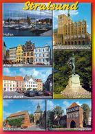 1 AK Germany * Stralsund - Sehenswürdigkeiten - Mehrbildkarte - Seit 2002 UNESCO Weltkulturerbe * - Stralsund