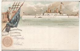 ESTADOS UNIDOS 1893 ENTERO POSTAL WORLD'S COLUMBIAN EXPOSITION CHICAGO EXPOSICION UNIVERSAL USS ILLINOIS - 1893 – Chicago (Estados Unidos)