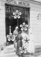 PHOTO(RETIRAGE)  Mai 1918 EVIAN  74 HAUTE SAVOIE L'HOPITAM AMERICAIN. . - Reproductions