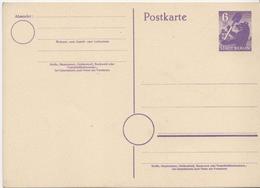 Germany Mint Postal Stationery Card ( Ganzsache), Thin Paper - Soviet Zone