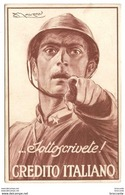 MAUZAN CARTOLINA SOTTOSCRIVETE ! CREDITO ITALIANO PRESTITO NAZIONALE I - 1900-44 Vittorio Emanuele III