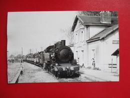 PHOTO 94 SANTENY SERVON TRAIN LOCO CLICHE MARC DAHLSTROM - Trains