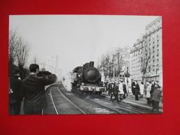 PHOTO CHEMIN DE FER DE VINCENNES TRAIN SPECIAL FACS A PARIS BEL AIR COLLECTION B.FAVIERE - Trains