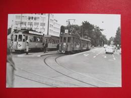PHOTO SUISSE BASEL RAMES BVB ET BGB AU DEART DE AASCHEN PLATZ  COLLECTION B.FAVIERE - Trains