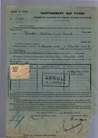 1924 Nantissement Sur Titres Blanchet Alphonse Ernest Edouard (A-10) - Asiatische Kunst