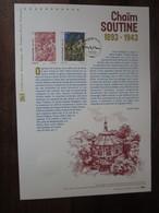 Premier Jour -collection Historique Du Timbre-poste Français - Chaïm Soutine (2013) - Documents De La Poste