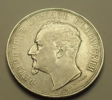 1892 - Bulgarie - Bulgaria - 5 LEVA (5 BGO ), Ferdinand 1, Argent, Silver, KM 15 - Bulgaria