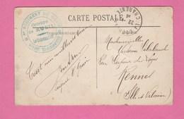 CACHET *8e REGIMENT DU GENIE * GROUPE DE RUEIL LE Cdt SAPEURS TELEGRAPHIQUES OBLITERATION LA COURONNE CHARENTE - Guerra De 1914-18