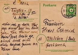 Germany Used Postal Stationery Card ( Ganzsache) - Soviet Zone